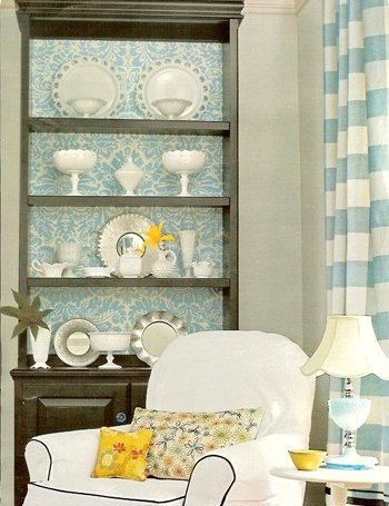 I would love to hear how you have incorporated wallpaper into your bookcase!  Leave me a comment below or send me a photo!